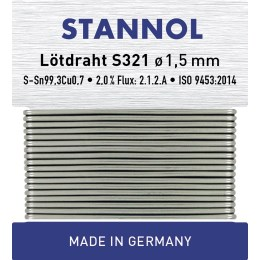 1245567 - Bastlerlot Wickel S321 1,5mm 14g, Sn99Cu1