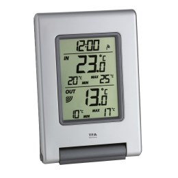 1212232 - Funkthermometer Easy Base silber 107x52x215mm