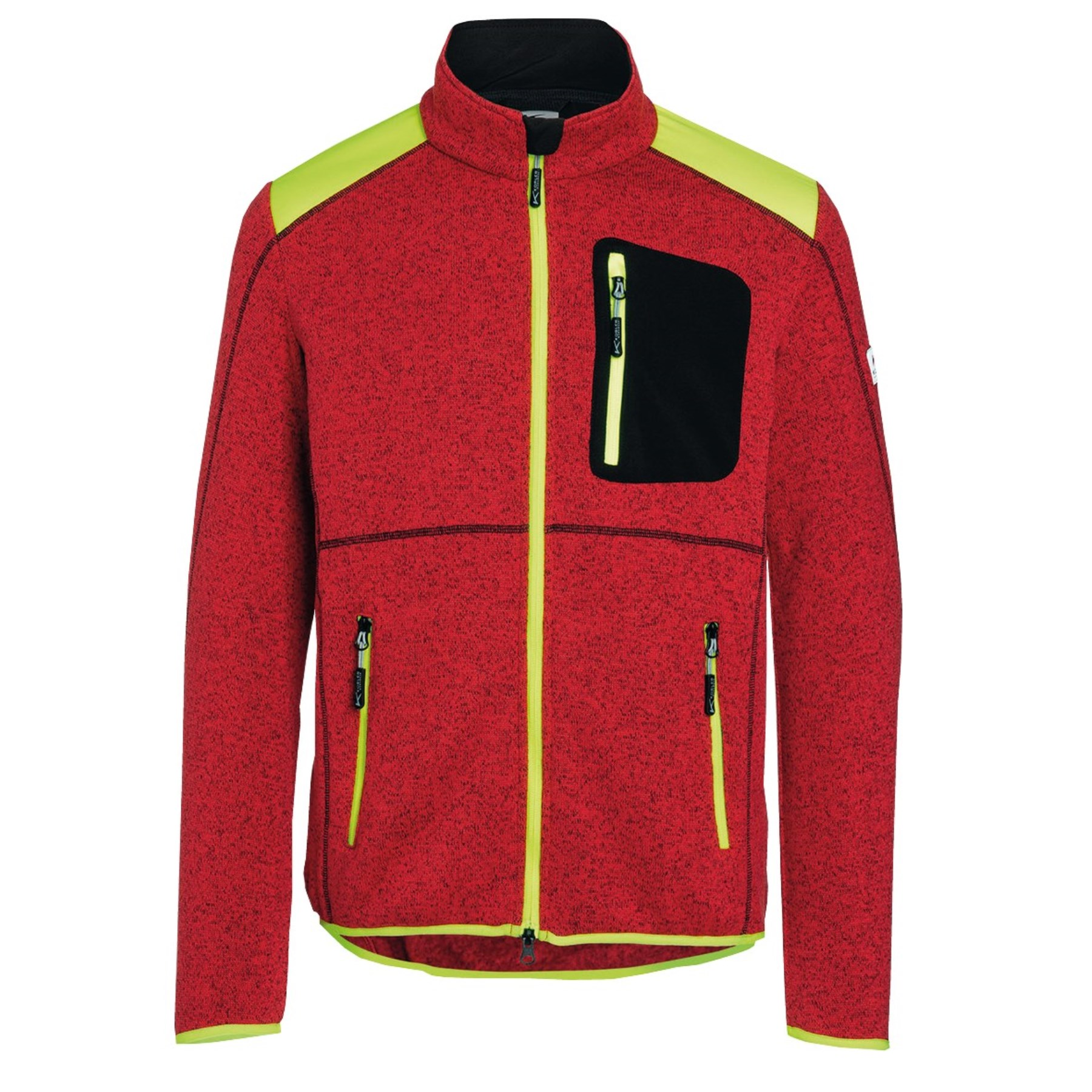 1253879 - Strickjacke Light Forest Gr.S rot/warngelb