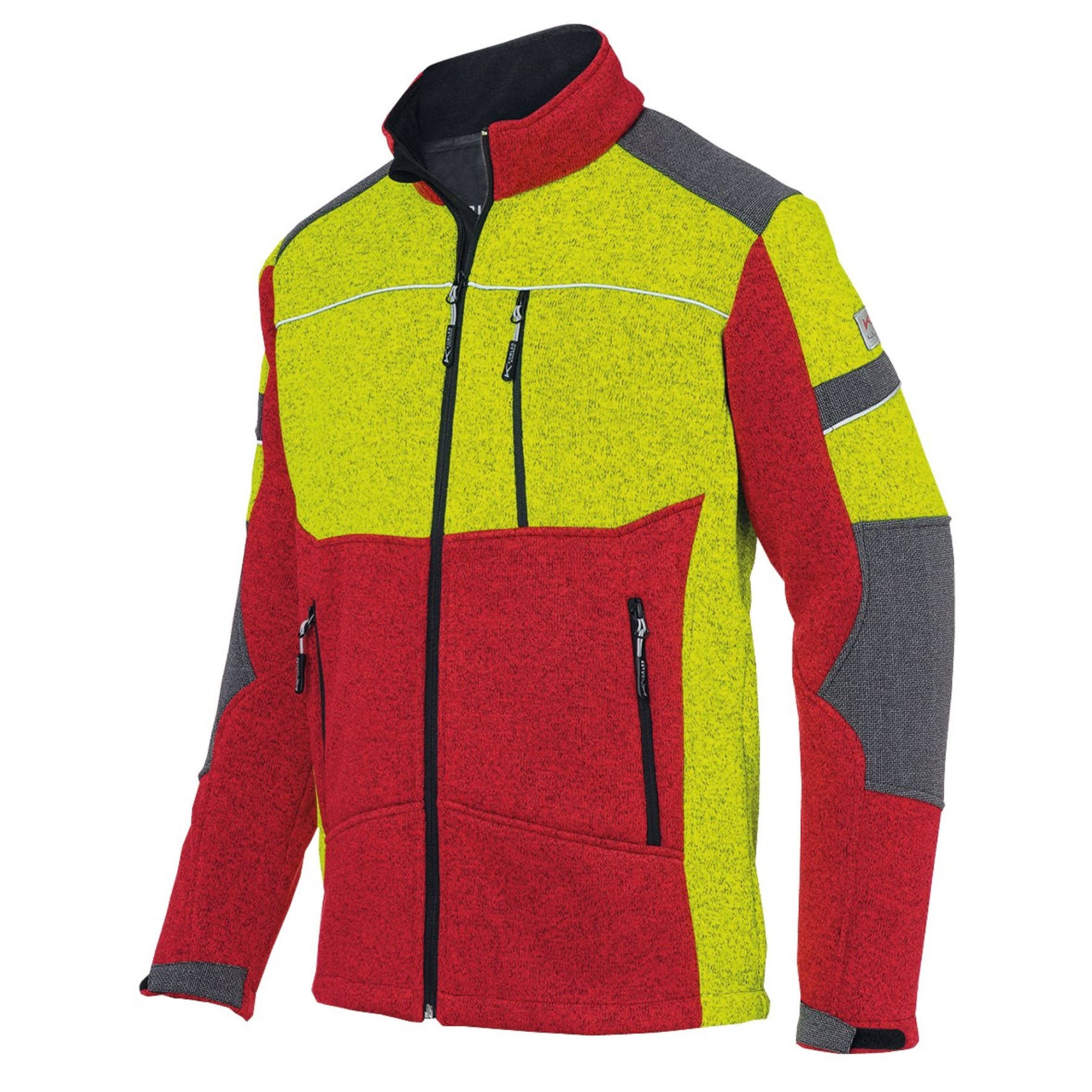 1253888 - Strickjacke Forest Gr.2XL rot/gelb