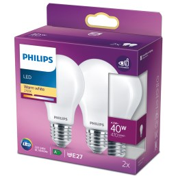 1265500 - LED Classic 40 W E27 470lm WW matt warmweiß DUO-Pack