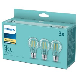 1265508 - LED Classic 40 W E27 470lm WW klar warmweiß 3-er Pack