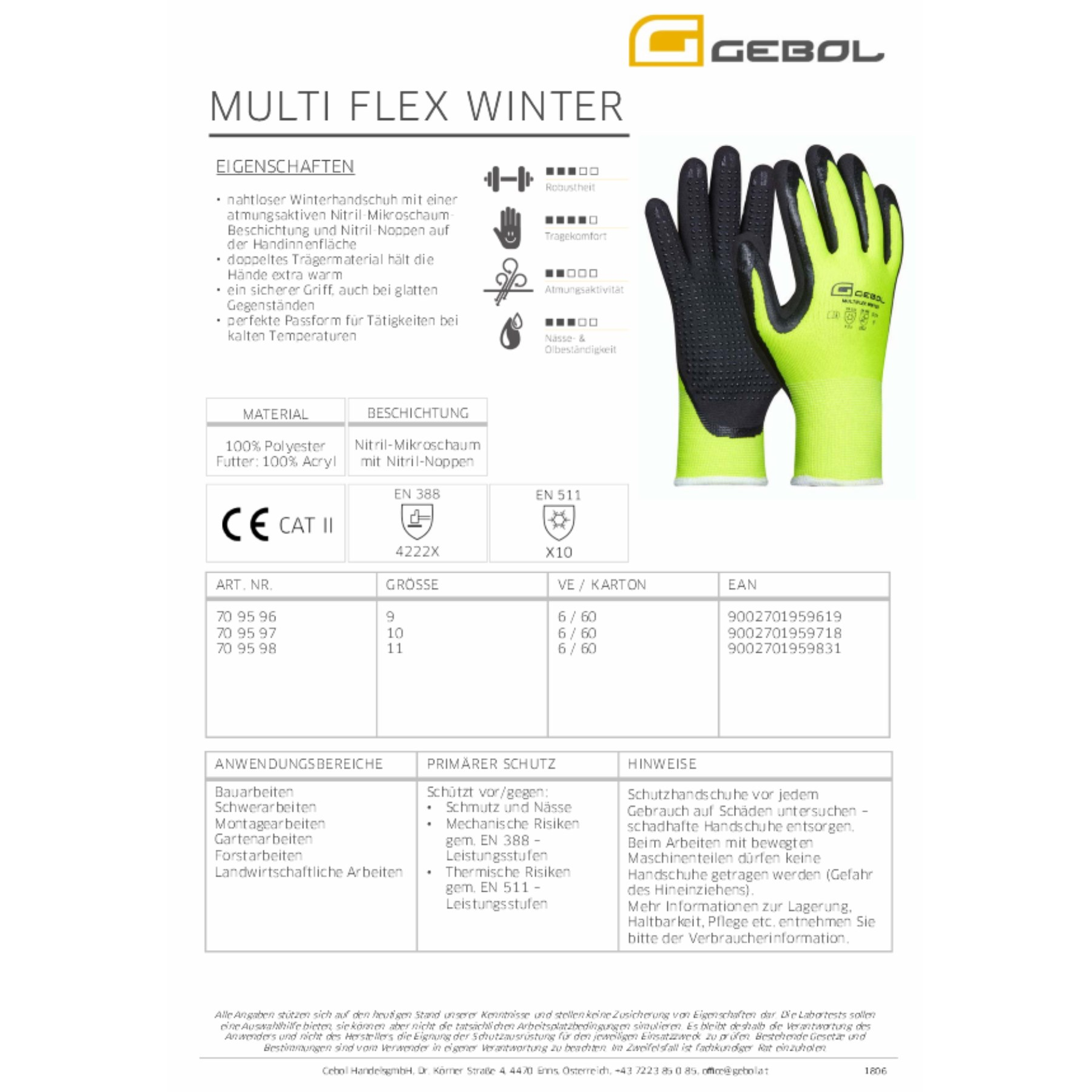 1223577 - Arbeitshandschuh Multiflex Winter
