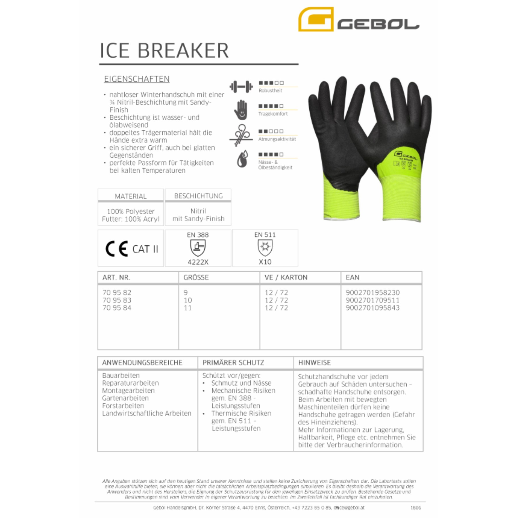 1234171 - Arbeitshandschuh Winter Ice Breaker